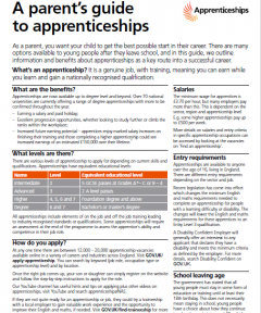 A parents guide to apprenticeships 2018