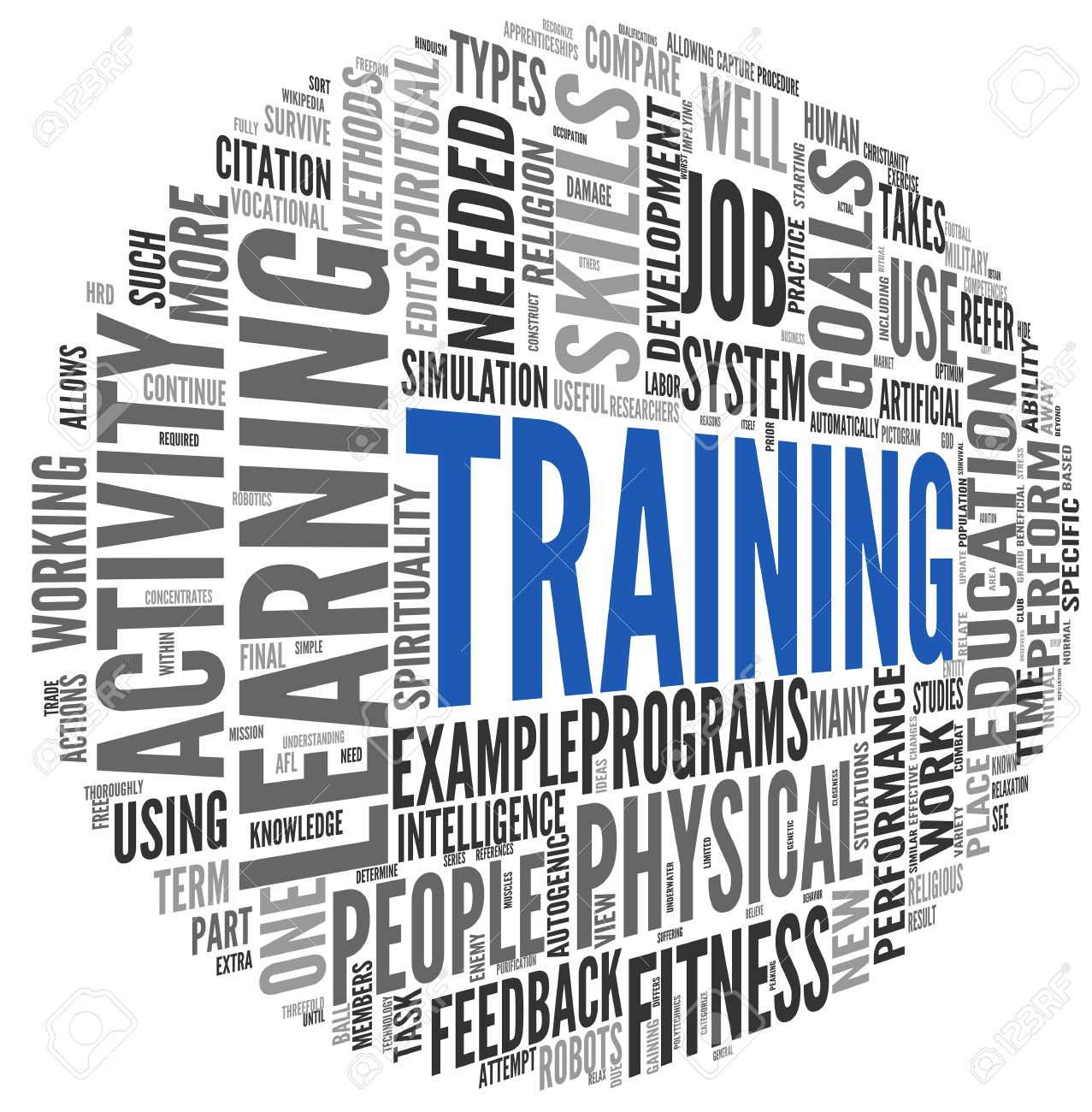 18173630-Training-and-education-related-words-concept-in-tag-cloud-Stock-Photo